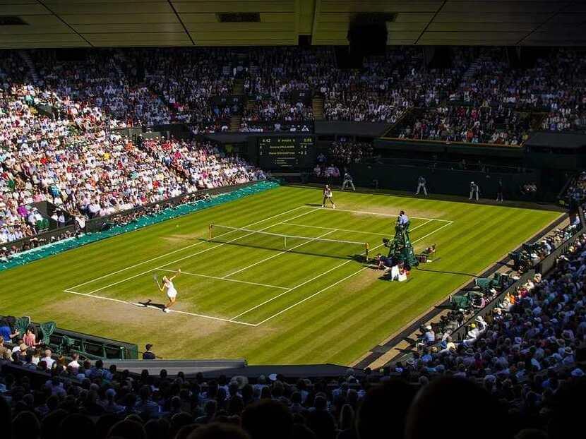 A Ladies match at Wimbledon