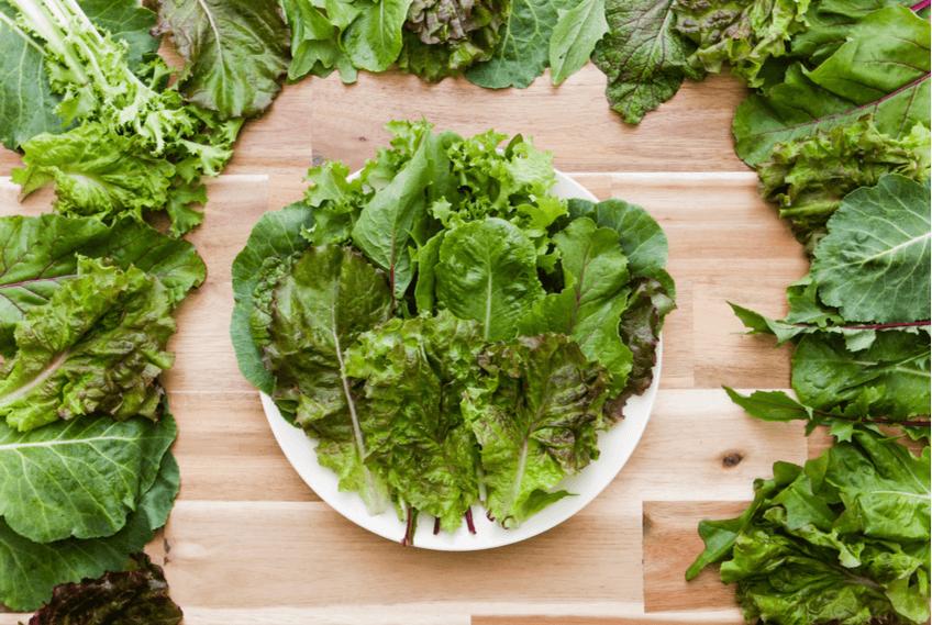 leafy greens - kale