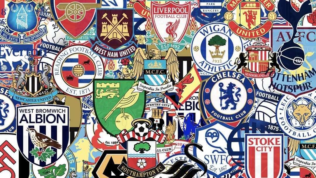 Collection of football clubs logos