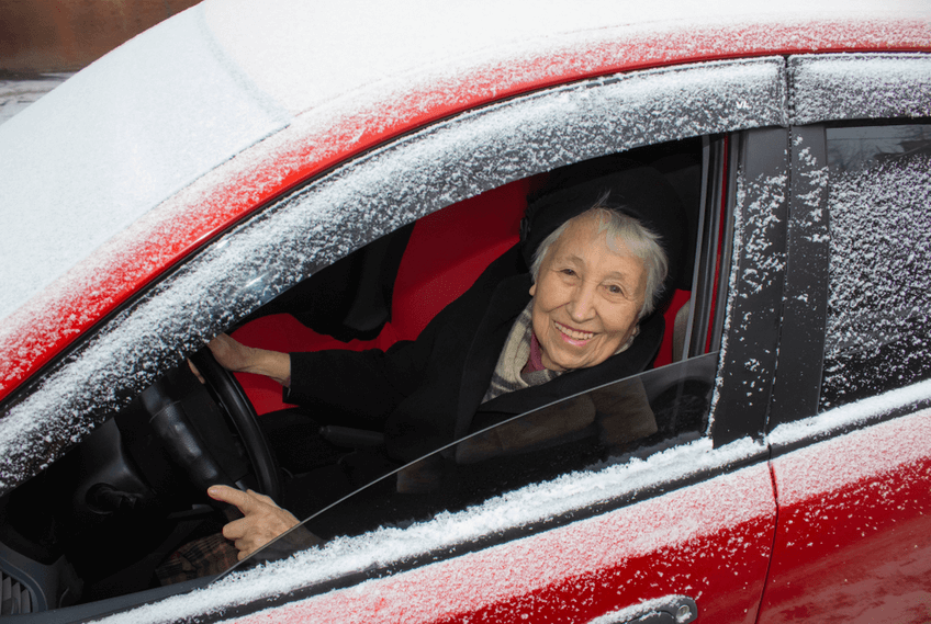 safe driving in the snow