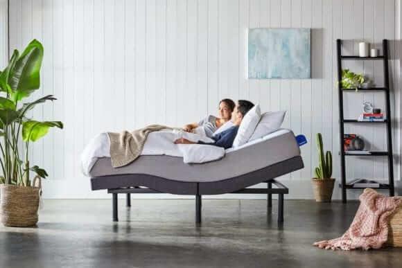 lying in Nectar Adjustable Bed Frame together