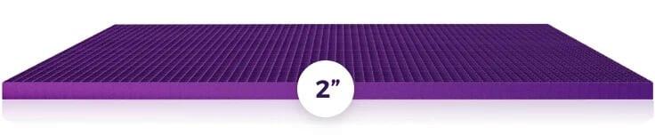 purple mattress grid